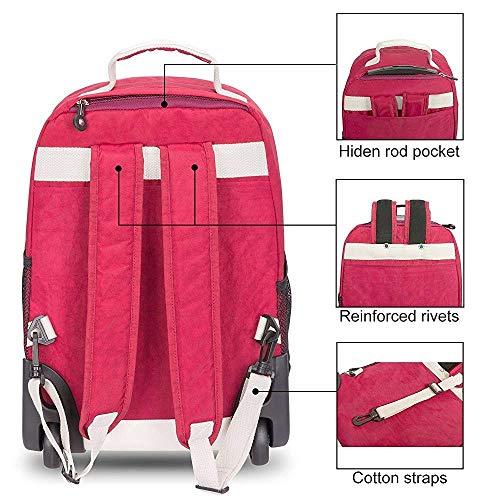Kylinllx Trolley Bag Schultertasche Rucksack Schultertasche Student Trolley Bag Gepäck Boarding Bag (Farbe : Lila)