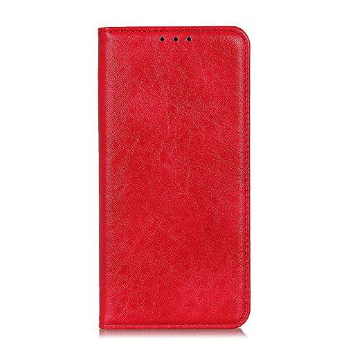 Zl One Compatível com/Substituição para Capa de telefone Xiaomi Black Shark 2 / Black Shark 2 Pro PU Carteira Carteira Capa Flip (Vermelho)