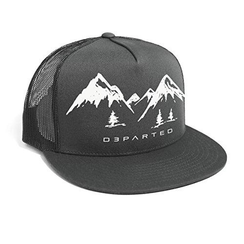 DEPARTED Herren Mesh Trucker Hat mit Print/Aufdruck - Snapback Cap - No. 35, dunkelgrau