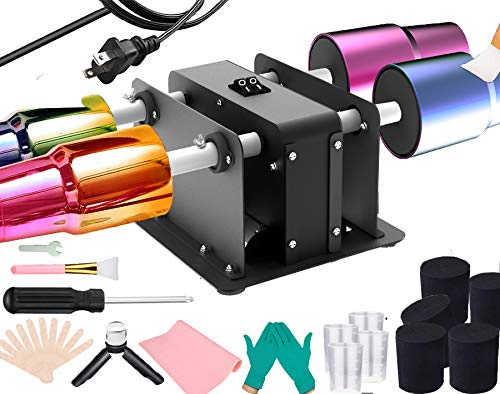 4 Cup Turner Tumbler Kit Four-Arm Cup Spinner Metal Craft Cuptisserie Turner Kit for DIY Epoxy Glitter Tumblers Machine Independent Switch Silent Working Without Noise Update