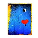 Posters Tänzer Herz Liebe Kunst Joan Miro Berühmte Poster