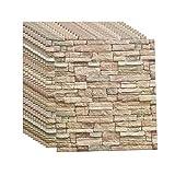 3d Brick Wandpaneele Selbstklebend Tapeten Wand Dekoration Retro Nostalgischer Ziegelstein Muster Tapete FüR Kinderzimmer Schlafzimmer Wohnzimmer, 70 * 77CM(A10pcas)