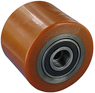 Transpaleta rodillo 85mm Ancho 100mm eje 17mm stahlkern Neumáticos Poliuretano ruedas ruedas Transpaleta Repuesto rollo