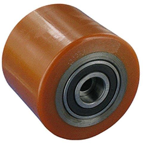 Transpaleta rodillo 85mm Ancho 100mm eje 20mm stahlkern Neumáticos Poliuretano ruedas ruedas Transpaleta Repuesto rollo