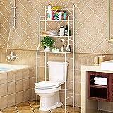 YIZHE Estanteria sobre Inodoro WC Lavadora Ahorra Espacio Almacenamiento Cuarto...