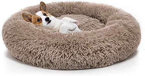LLKK Cama Suave para Mascotas para Gatos y Perros pequeños y medianos,cojín Redondo para Abrazos,Cama Nido,Cama portátil para Gatos,Perros,Cachorros,sofá,Cama para Dormir con rosquillas