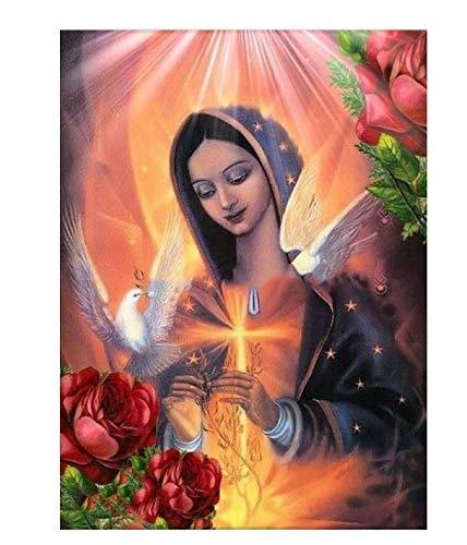 Diy Diamante Pintura Religiosa De La Virgen Regalo Para Punto De Cruz Decoración Del Hogar Iconos Serie Diamante Bordado Pintura 90X120Cm A
