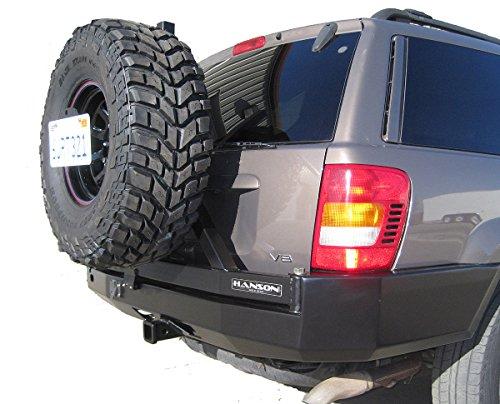Hanson Steel Heavy Duty Rear Bumper For 1999-2004 Jeep WJ Grand Cherokee