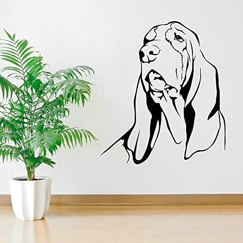 Tianpengyuanshuai hoofddecoratie hond hond vinyl muursticker kamerdecoratie kinderen wanddecoratie sticker