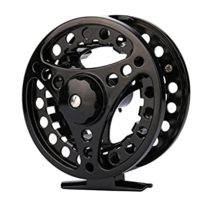 MuSheng(TM) Fly Reel 3/4/5/6/7/8 WT Large Arbor Silver/Black Aluminum Fly Fishing Reel Spare Spool Reel For Coarse Match Lake River Game Fishing from MuSheng