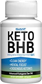 Giant Sports Keto Pills Clean Energy Weight Loss BHB Salt | Advanced Ketosis for Burning Fat and Ketones On The Ketogenic ...