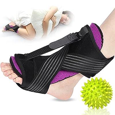 Plantar Fasciitis Night Splint, 2021 Upgraded Adjustable Plantar Fasciitis Relief Night Splints for Plantar Fasciitis, Foot Drop Ankle Pain, Heel Pain, Achilles Tendonitis Support (Purple) from Kaiouli
