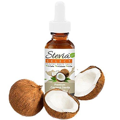 Stevia Drops-Stevia Select-Stevia Liquid Coconut Keto Flavor Drops-Sugar Free Syrup-Sugar Substitute For Baking Keto Desserts-2 Oz.Stevia Flavored Drops-Best Stevia Liquid Guaranteed