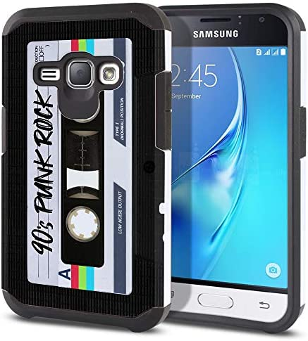 FINCIBO Case Compatible with Samsung Galaxy J1 J120 2016 Express 3 Luna Dual Layer Hard Back product image