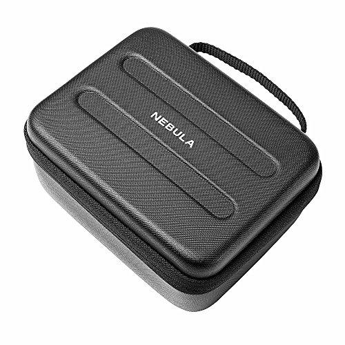 NEBULA Capsule Original Reise-Etui, Maßgeschneidert für den Nebula Capsule Projektor, aus hochwertigem PU-Leder, weichem EVA-Material, spritzwasserdicht, perfekter Schutz für Reisen & Transport