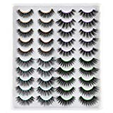 JIMIRE False Eyelashes 4 Different Styles Eyelashes Pack Fluffy Volume Faux Mink Lashes 20 Pairs