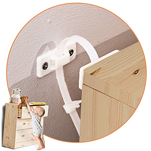 KareKlub Furniture Anchors and Straps (Pack of 6) for Dresser,...