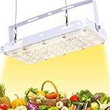 ROLEADRO LED Grow Lights, Full Spectrum Panel Grow Lamp with LM301H & 3500K & Red LED Plant Lights for Indoor Plants,Micro Greens,Clones,Succulents,Seedlings