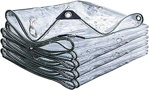 WHCQ Lona de protección, Resistente al Agua y a Las roturas, Ojales de Aluminio, Revestimiento por Ambos Lados, Lona Protectora, Lona para Camiones