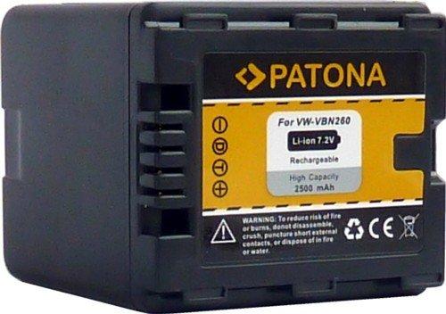 PATONA Ersatz für Akku Panasonic VW VBN260 E K mit Infochip - Intelligentes Akkusystem - zu HDC SD800 SD900 SD909 TM900 HS900 - HC X929 X810 X909 X900 X800