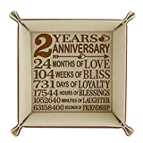 2 Years Anniversary Traditional Cotton Gift, 2nd Wedding Anniversary, Engraved Cotton Organization Jewelry Tray