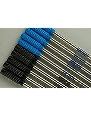 10 Genuine Intrepid Medium Ballpoint Refills for Cross Ballpoint Pens.Protective Seal on tip for Shelf Life Longevity (Bulk Pack) - (5 Blue & 5 Black)