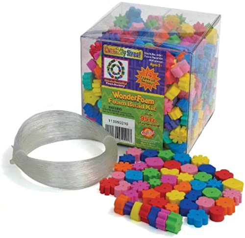 Chenille Kraft Wonderfoam Beads and Cord, 400 Beads Per Tub by Chenille Kraft (English Manual)