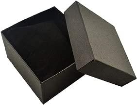 collectsound - Caja Cuadrada de cartón para Guardar Relojes, Pulseras, Joyas, Caja de Regalo con Almohadilla de Almohada, Negro, Talla única