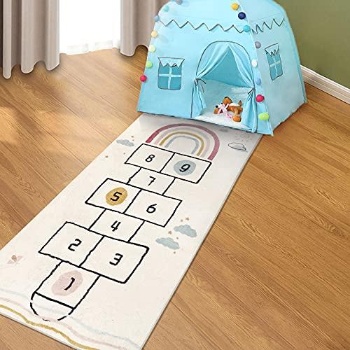 SHACOS Nursery Rug Kids Hopscotch Floor Rug Carpets Baby Crawling Mat...