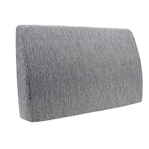Formalind Respaldo para cama y sofá 70 X 45 X 15 CM//Cojines traseros para ver televisión y leer en diseño fino hecho de tela fina de tapicería (moteado en blanco y negro)