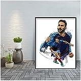 Adil Rami Kunstdruck auf Leinwand für Wohnzimmer, Poster