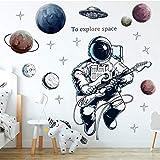 HFDHFH Explore DIY Space Wall Stickers Kindergarten Dormitorio Habitación de los niños Pegatinas de Pared ambientales Decoración del hogar Mural de Vinilo