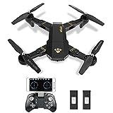 Drone Pieghevole, Kingtoys XS809W RC Quadcopter 2.4GHz 4CH Gyro APP Controllo...