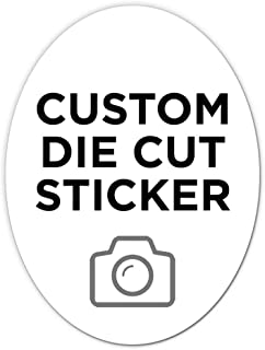 """250 Oval Custom Die Cut Stickers 3"""" x 4"""" for Laptops, Windows, Cell Phones, Cars. Upload Your own Image, Logo, or Design…"""