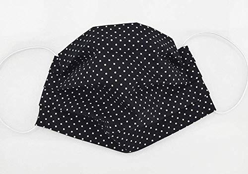 Mund- & Nasenmaske - Punkte Schwarz Weiß - Baumwollmaske