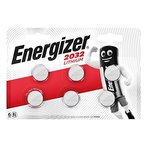 Energizer - Blister de 6 Pilas CR2032 Lithium, Litio, 3 v