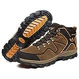 トレッキングシューズ メンズ 登山靴 防寒 通気 (ブラウン, 44(27.0cm))