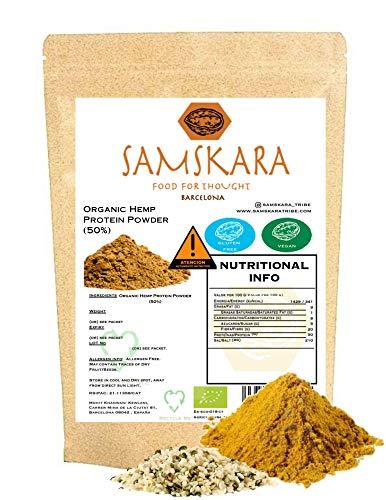 Canamo Protein EU Organic Raw 50% Protein Omegas 3 6 Fibers Vegan Protein (5 kg)