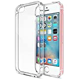 ivoler Funda Carcasa Gel Transparente para iPhone SE 2016 / iPhone 5S / iPhone 5, Ultra Fina 0,33mm,...