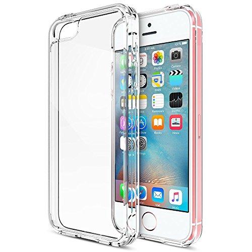 ivoler Coque pour iPhone Se 2016 / iPhone 5S / iPhone 5, [Ultra Transparente Silicone en Gel TPU Souple] Housse Etui Coque de Protection avec Absorption de Choc et Anti-Scratch