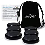 Hot Stones - Maxdee 6Pcs Medium Massage Stone Set, Hot Massage Stones Heated Warmer Rocks for Professional or Home Spa, Relaxing, Healing, Pain Relief, 2.4' x 2.4' inch