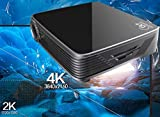 4K UHD Projector,Deeirao Android5.1OS Mini DLP Home Theater Projector Blueray 3D Support 2160P 1080P Full HD USB HDMI VGA for PS4,Xbox360,Fire TV,KODI, Black