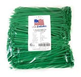 Cable Ties. Standard Duty 7.6 Inch Premium Nylon Wire Management Zip-Ties. 50 LB Tensile Strength. USA Strong Cable Ties (1000 Pack, Green)