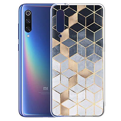 Pnakqil Funda Xiaomi Mi 9 SE Clear Transparente Silicona Carcasa Ultrafina Suave Gel TPU Bumper Piel Antigolpes Protectora Case Cover Compatible con Teléfono Xiaomi 9 SE, Square