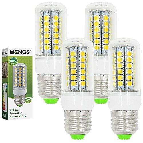4X MENGS® E27 LED Lampe 7W AC 220-240V Kaltweiß 6500K 48x5050 SMD
