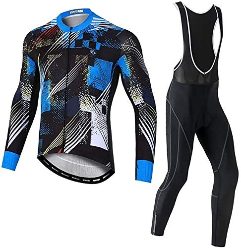 Road Bike MTB Bicycle Clothing,Moisture-Wicking, Comfortable and Warm, Suitable for Long and Short Distance Riding, Night Riding (Size : Medium)