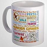 Divertente tazza da caffè The Original Hunger Games multicolore tazza da caffè 311,8 ml in ceramica tazza da caffè migliore regalo o souvenir per uomini donne compleanno festival Natale