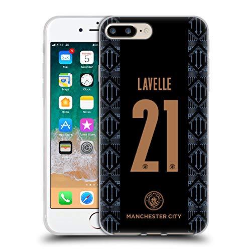 Head Case Designs Oficial Manchester City Man City FC Rosa Lavelle 2020/21 Carcasa de Gel de Silicona Compatible con Apple iPhone 7 Plus/iPhone 8 Plus