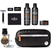 Classic Grooming Complete Set - Includes Safety Razor, Pre-Shave Oil, Shave Lather, After Shave, SilverTip Shave Brush and Stand