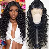MONSTER LINK Tinashe Hair Lace Front Human Hair Wigs 180 250 Density Loose Deep Wave Wig 360 Lace Frontal Wig 28 30 inch Curly Human Hair Wig